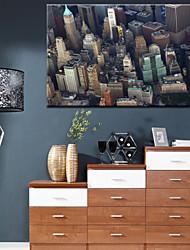 Stampa Wall Street Landscape tela con cornice