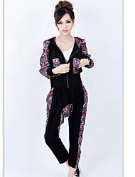 xinzhimeng koreanische Samt Hip-Hop-Mode Stretch-Baumwolle schwarz Freizeitanzug