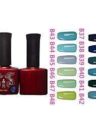 Motif 1PCS Phoenix Gel UV couleur de vernis à ongles B Sery NO.37-48 (12ml, couleurs assorties)