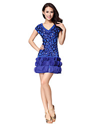 Dancewear Women's Special Swing Polyester   Sequined Latin Dance Dress(More Colors)