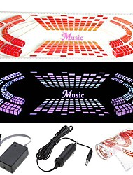 Car Sticker Music Rhythm LED Flash Light Lamp Voice activated Equalizer