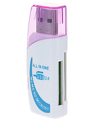 All-in-one USB 2.0 Micro SD Memory Card Reader (roxo / verde)