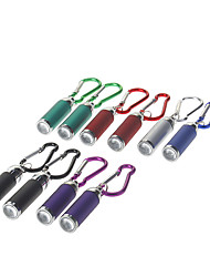 10pcs/lot Mini Metal LED Flashlight Keychain Camping Climbing Flashlight (3xLR44, Assorted Colors)