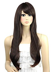 Woman Wavy Lovely Long Side Bang Synthetic Wigs 3 Colors Available