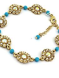 Elegant-Craft Graceful Vintage Gem Blue Bead Bracelet