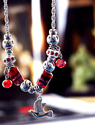 Dark Blue / Red / Blue Strands Necklaces Party / Daily Jewelry