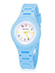 Children's Colorful Dial Bright Color Silicone Band Quartz Analog Wrist Watch (Assorted Colors) Cool Watches Unique Watches