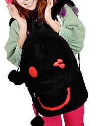 Funny Smile Face Pattern Furry Kigurumi Bag