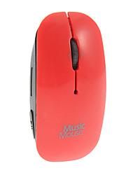Reproductor de Mp3 del ratón de la alta calidad con forma de tarjeta de la ayuda TF (colores surtidos)