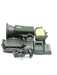 Dison X-807 Series Studio Light Flash con quattro fogli in bianco, singolo supporto della lampada, 55 Battery Charger +, Zaino