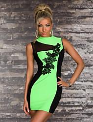 Contraste Fluorescenced Mujeres Color del vestido Sexy