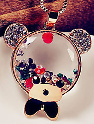 Chaopinshijia Teddy Bear Sweater Chain Fashion Necklace (Screen Color)