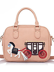 Jet & Sharon Carriage Pattern PU Leather Sweet Lolita Shoulder Handbag