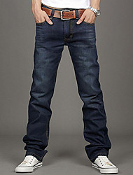 Mannen Slim Fit Jeans Broeken Straight Leg Maat 30 ~ 34 Button