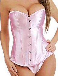 Light Pink Satin Corset Doce Lolita