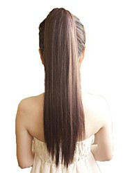 Tape Horsetail Ponytail Straight High Quality Synthetic Hairpiece 3 Colors Available