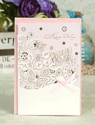 Floral Laser Cut Birthday Card