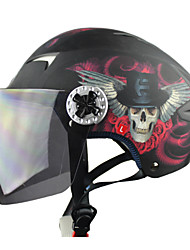 carreras abs t505-5 material anti-uv motociclismo medio casco (colores opcionales)