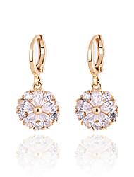Minmin Women's Fashion Simple Style Zircon Earrings