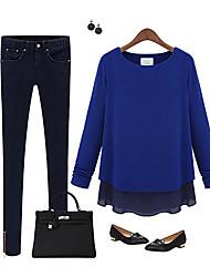 Pure Color Long Sleeve T-Shirt Women Spring DE LAS MUJERES
