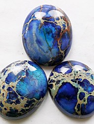 3pcs mar azul escuro Sedimentos Jasper Oval CAB CABOCHON