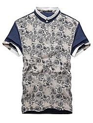 Col en V imprimé ethnique T-shirts