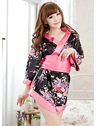 Mulheres Sexy Cereja Imprimir Kimono