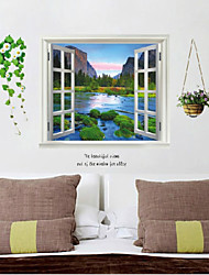 Fake Window Wall Poster,Decorative Poster Wall Stickers