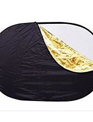 "100 x 150CM/40"" x 60"" Collapsible Oval 5 in 1 Photo Reflector"