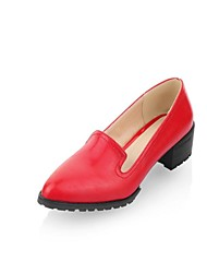 Top Quality PU Upper Thick-heeled  Non-slip Square  Heel Flat  Pumps (More Colors)