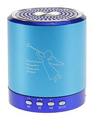 Altavoz portátil de música con micrófono, TF apoyada (azul)