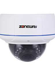 ZONEWAY® H.264 1080P Vandal-proof Dome IP Camera (ONVIF,RTSP and Multi-Screen Software Monitoring),P2P