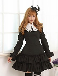 Sweet  Lolita Princess Princess Black Rose  Dress  Lovely Cosplay