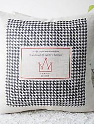 Noir et blanc classique de pied avec la couronne décorative Taie d'oreiller