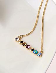 Akoland Women's  Contrast Color Diamonade Short Necklace(Screen Color)