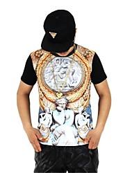 Mannen 3D korte mouw T-shirt Mode Mannen Straat