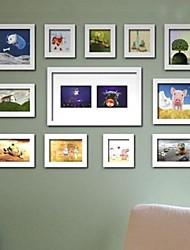 Weiß Photo Frame Collection Set von 12