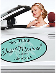 Personalized Beach Wedding Window/Car Cling (More Colors)