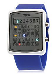 Unisex Creative Digit Display Colorful LED Rubber Band Wrist Watch (Assorted Colors)
