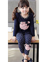 Girl's Wool Blend Clothing Set , Winter Long Sleeve