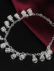 High Quality European Silver Silver-Plated With Crown Charm Bracelets