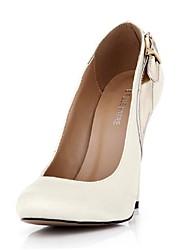 Satin Damen Stiletto Round Toe Pumps / High Heels mit Schnalle