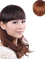 High Quality Synthetic Japanese Kanekalon Fiber Short Straight Clips in Light Brown Bangs