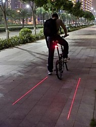 Luces para bicicleta / Luz Trasera para Bicicleta LED / Laser Ciclismo A Prueba de Agua / Bisel de Impacto / Advertencia Lumens Batería