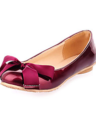 Leatherette Women's Flat Heel Ballerina Flats Shoes with Bowknot(More Colors)