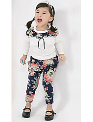 Girl's Floral Clothing Set,Cotton Blend Winter