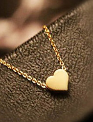 Sweet (Heart-shaped Pendant) Gold Alloy Pendant Necklaces (1 Pc)