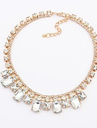 estilo europeu de moda gemstone delicado colar (mais cores)