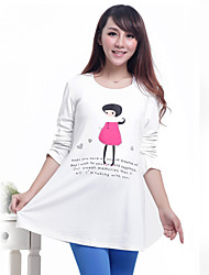 OuKaSang beau bonbon femmes enceintes shirt Sauvegarde (Blanc)