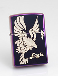 Personalized Father's Day Gift Engraved Eagle Pattern Rose Oil Lighter